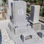 真壁石小目のオリジナル墓石外柵が完成。八柱霊園の4平方の広さ墓地にて。